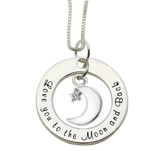 KAYA sieraden Silver necklace 'Love you to the Moon & Back'