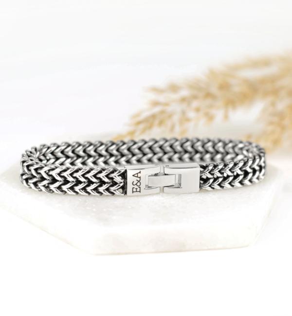 KAYA sieraden Black bracelet for men 'Leather' - Copy - Copy - Copy