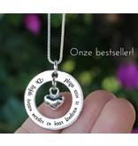 KAYA Zilveren ketting 'De liefde tussen moeder en haar kinderen...'