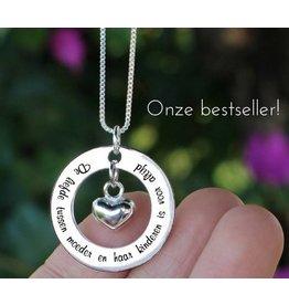 KAYA sieraden ★ SALE ★mZilveren ketting 'De liefde tussen moeder en haar kinderen...'