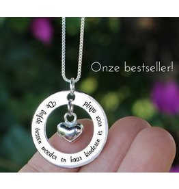 "KAYA Silver necklace ""My mom happens to be the dearest ' - Copy"