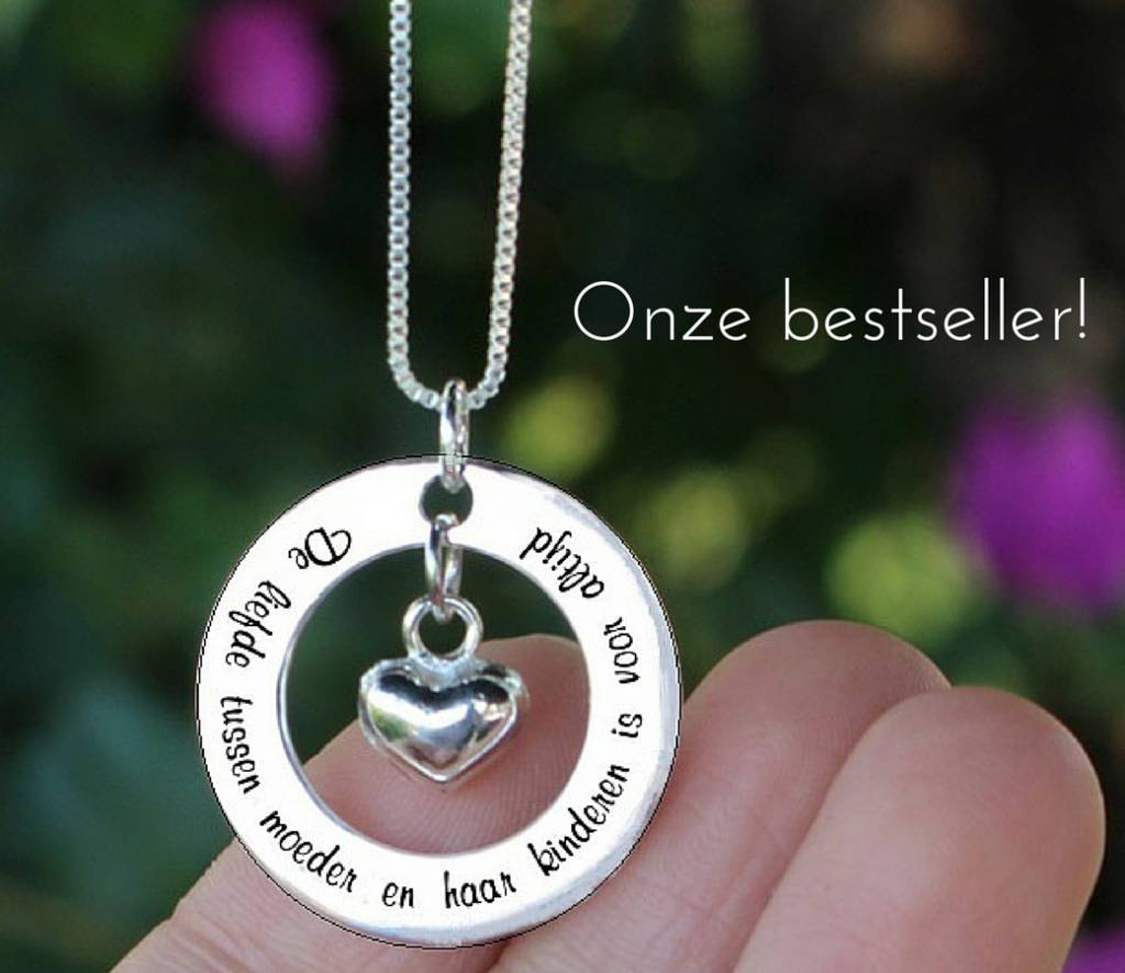 """KAYA Silver necklace """"My mom happens to be the dearest ' - Copy"""