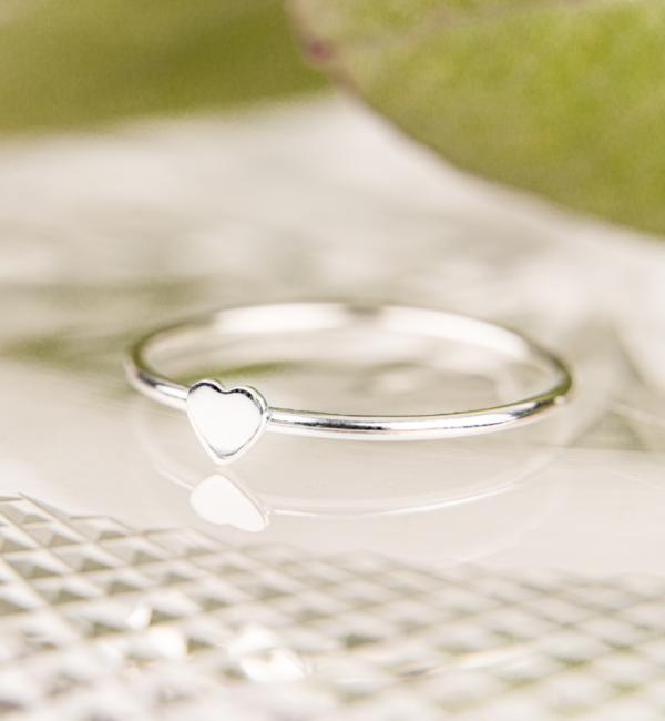 KAYA sieraden Zilveren Ring 'Lovely Heart'