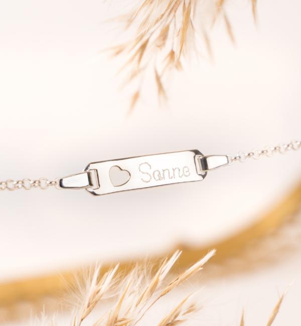 KAYA sieraden Silver graveerarmbandje 'Cute' - Copy - Copy