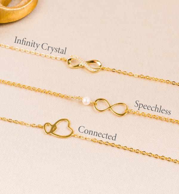 KAYA sieraden Gift Box Silver bracelets 'Infinity' Moon & Back - Copy - Copy