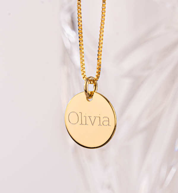 KAYA sieraden Silver necklace with engraving charm 'Tiffany style' - Copy - Copy