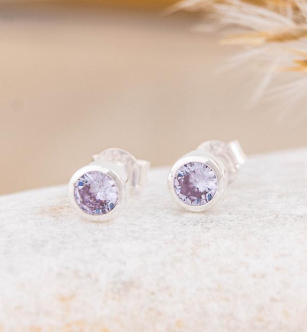 KAYA sieraden SWAROVSKI® Birth Crystal Earrings1 (Silver) - Copy - Copy
