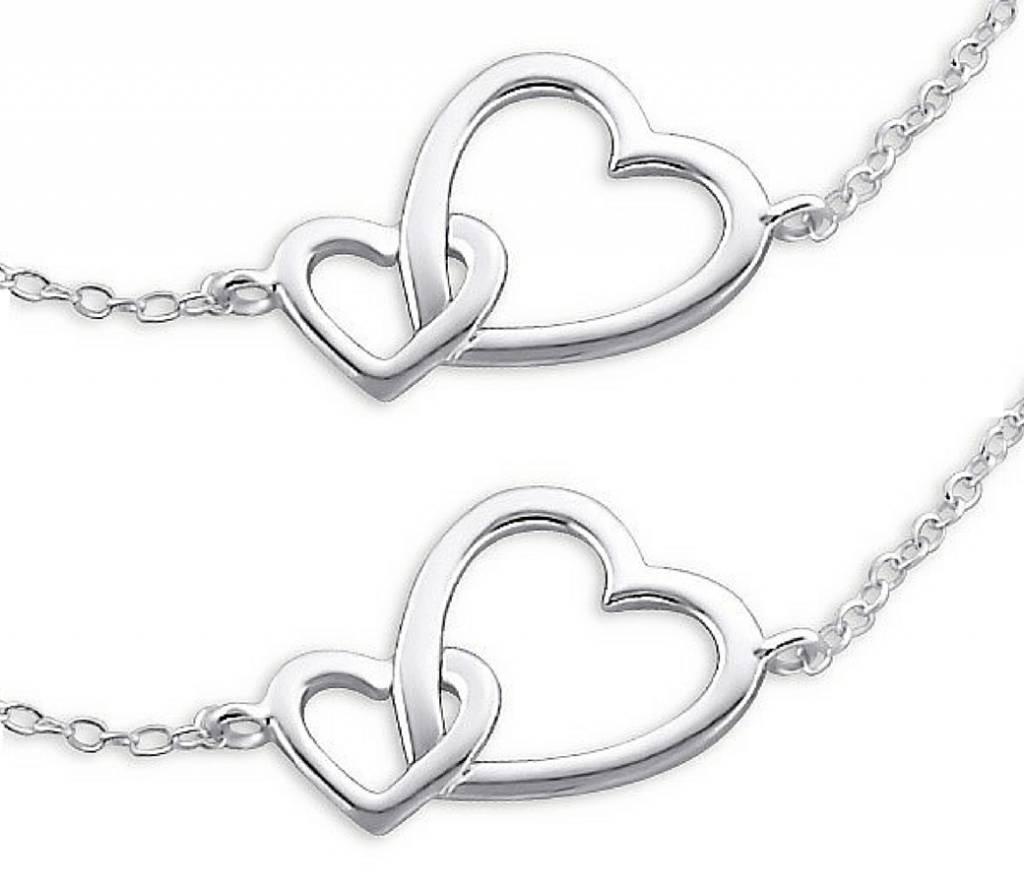 KAYA Set zilveren armbanden 'Connected'