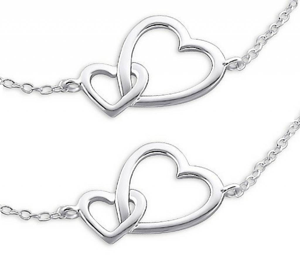 KAYA sieraden Matching Set Zilveren Armbanden 'Connected'