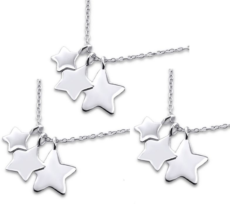 KAYA Silver Mom & Me chains 'Love you to the Stars & Back' - Copy