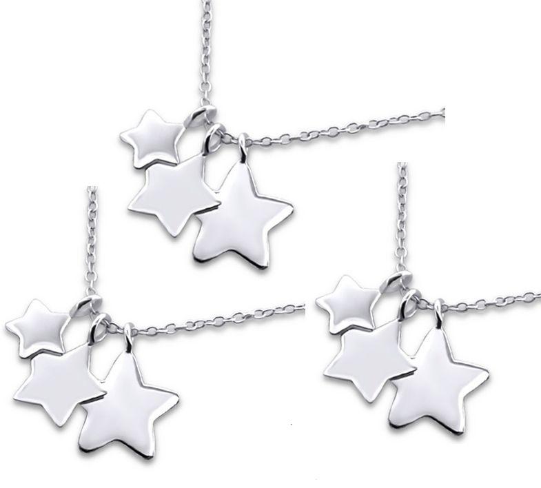 KAYA Zilveren drie generatie kettingen 'Shining Star'