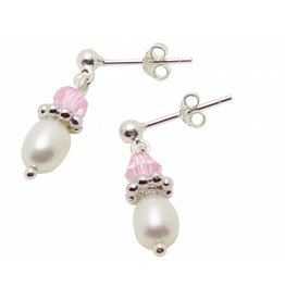 "KAYA Silver Pearl Earrings ""Little Diva"""