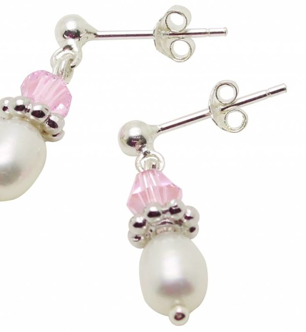 """KAYA sieraden Silver Pearl Earrings """"Little Diva"""""""