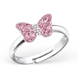 Kinderring 'Pink Butterfly'