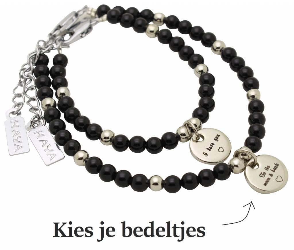 Mom & Me bracelets 'personal message'