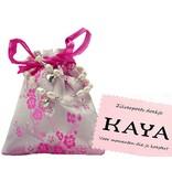 KAYA Zilveren kinderketting 'Unicorn' pastel roze