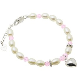 KAYA sieraden Silver bracelet children's 'Little Diva' with heart