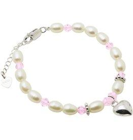 KAYA Silver bracelet children's 'Little Diva' with heart