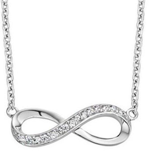 KAYA sieraden Zilveren Ketting 'Infinity Crystal'