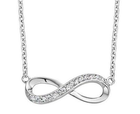 KAYA Zilveren ketting 'Infinity Crystal'