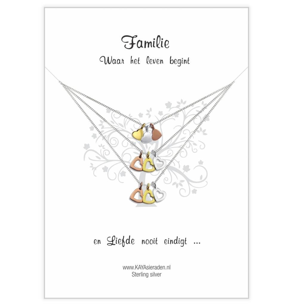 Greeting card 'three hearts generation'