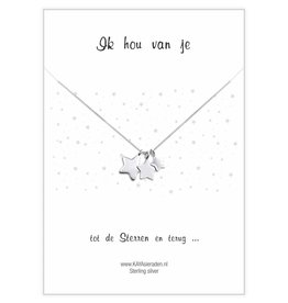 """KAYA sieraden Greeting Card """"I love you ... to the stars and back '"""