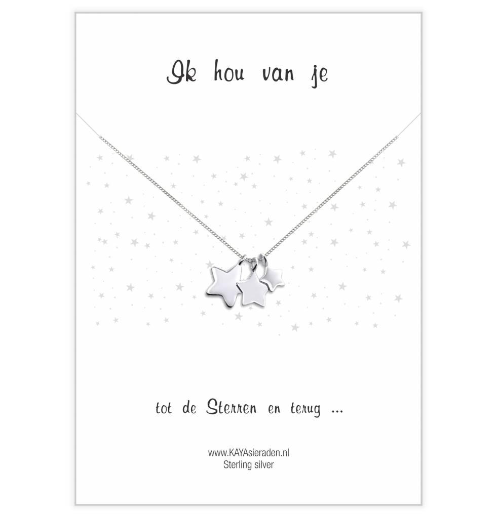 Wenskaart 'Ik hou van je tot de sterren en terug'
