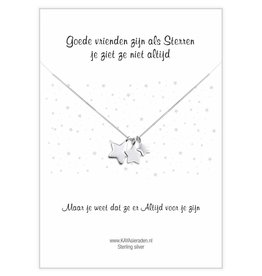 "KAYA Greeting Card ""Good friends are like stars"""