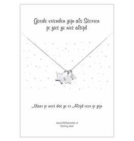 KAYA Wenskaart 'Goede vrienden zijn als sterren'