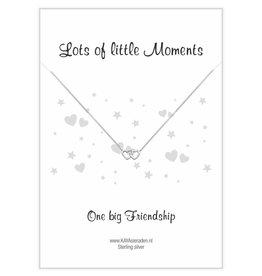 "KAYA Postcard ""One big Friendship 'double heart"