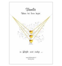 Card Family 'golden hearts'
