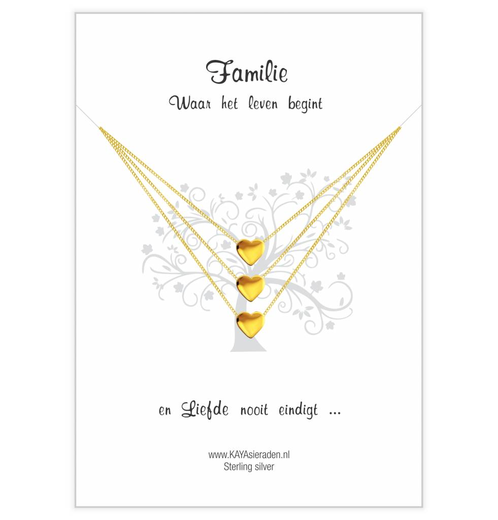 KAYA Card Family 'golden hearts'