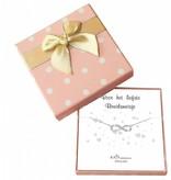 Cadeaudoosje 'Voor het liefste bruidsmeisje' met armbandje Infinity Crystal