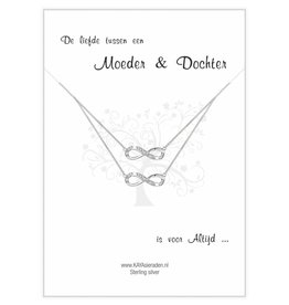 """KAYA sieraden Silver mother and daughter chains """"The bond between sisters' - Copy"""