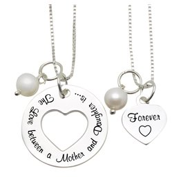 "Mom & Me necklaces ""The love between Mom & Daughter '"