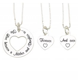 KAYA sieraden Mom and two daughters 'The Love between Mother & Daughter' Pearls