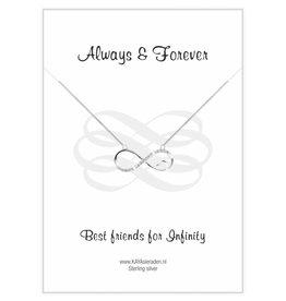 KAYA Wenskaart 'Always & Forever Best Friends'