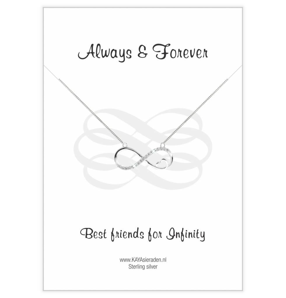 "Postcard ""Love you to Infinity ' - Copy"