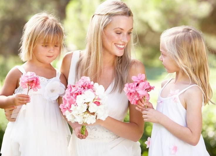 Bruid sieraden, voor mama en haar mini-bruidje