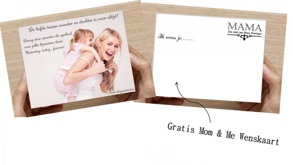 KAYA Mom & Me set 'Infinity' with globe and heart Swarovski - Copy