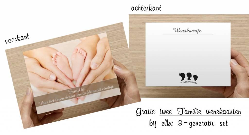 """Zilveren 3 generatie set 'Shine Bright' met bedels """"I love you"""" en """"To the moon and back"""""""