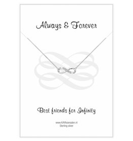 KAYA Infinity Silver Bracelet 'Necklace' - Copy - Copy - Copy