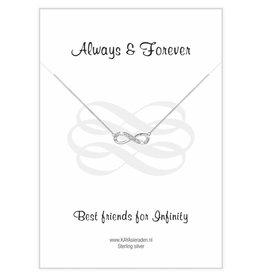 KAYA sieraden Wenskaart 'Always Best Friends'
