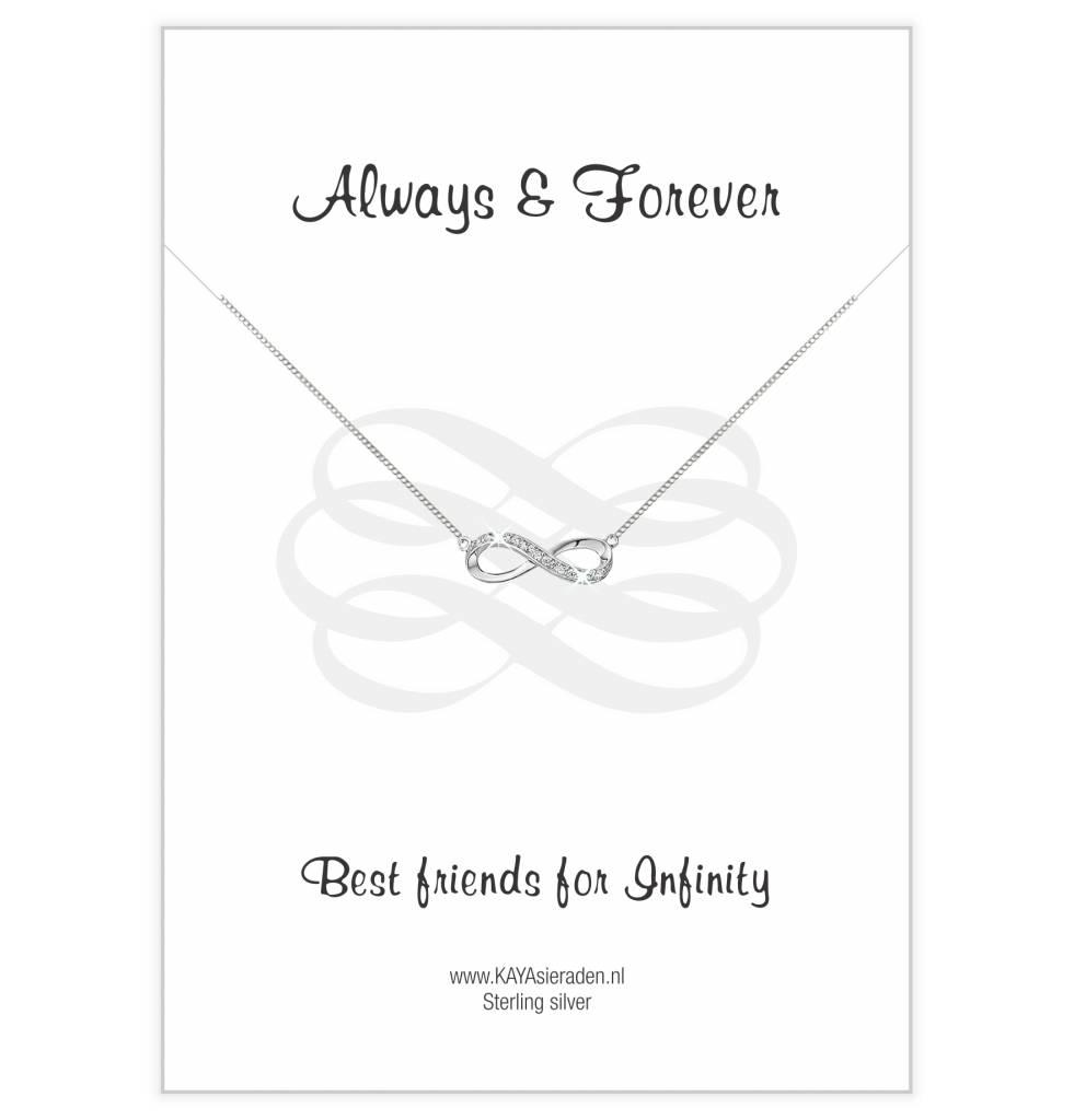 KAYA sieraden Infinity Silver Bracelet 'Necklace' - Copy - Copy - Copy