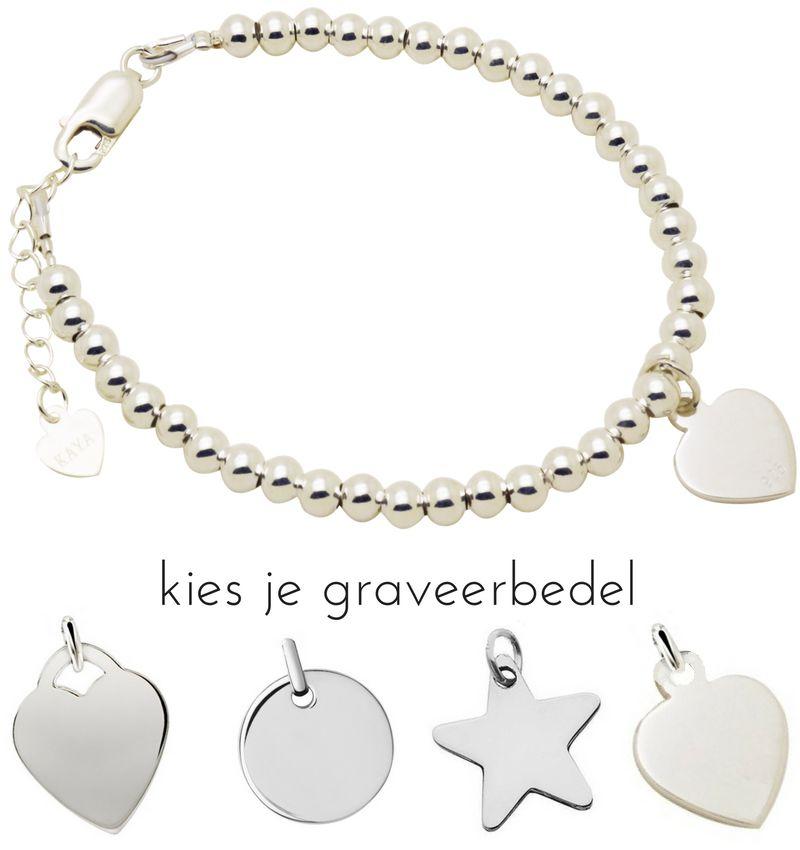 KAYA Zilveren armband 'Cute Balls'