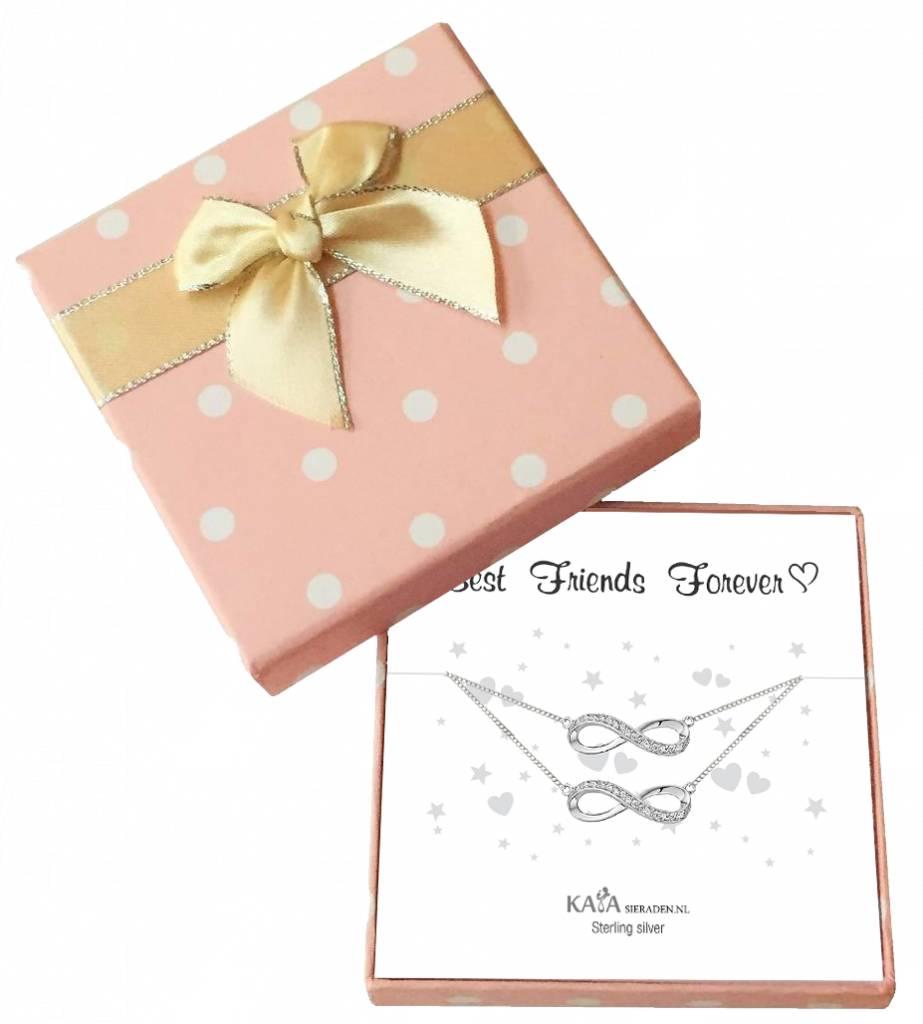 KAYA sieraden Cadeaudoosje 'Best Friends Forever' met armband Infinity Crystal