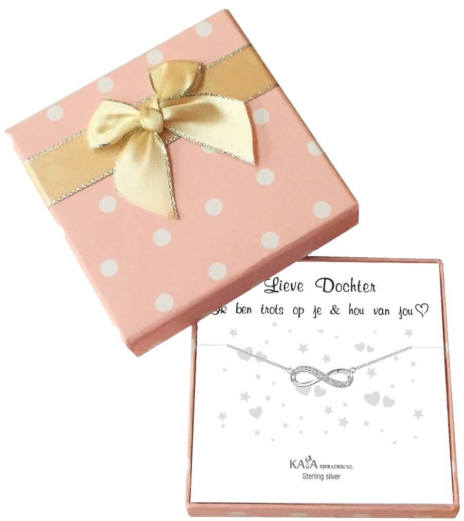 Gift Box Silver bracelets 'Infinity' Moon & Back - Copy - Copy - Copy