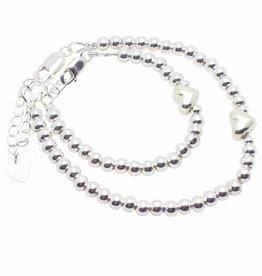 Zilveren armbanden set 'Cute Balls' met hartje