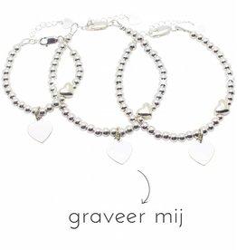 KAYA sieraden 3 Silver Bracelets 'Personalize' - Copy