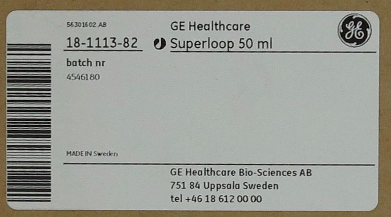 GE Used GE Healthcare Superloop 50 ml
